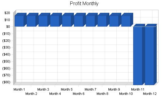Aquarium services business plan, financial plan chart image