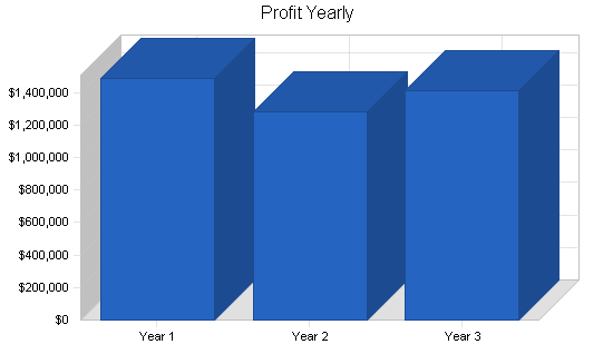 Asp software developer business plan, financial plan chart image