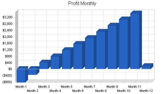 Automated accounting business plan, financial plan chart image