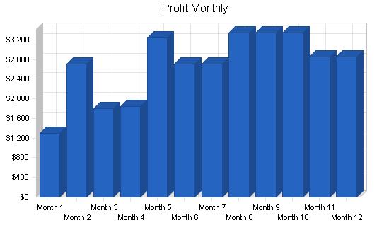 Beverage machine rental business plan, financial plan chart image