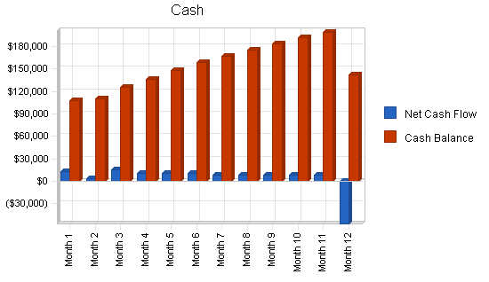 Car wash self-service business plan, financial plan chart image
