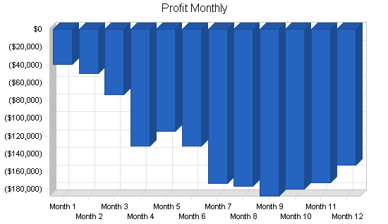 Childrens website business plan, financial plan chart image