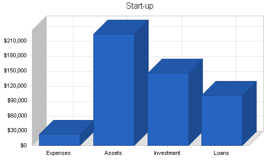 Computer software business plan, company summary chart image