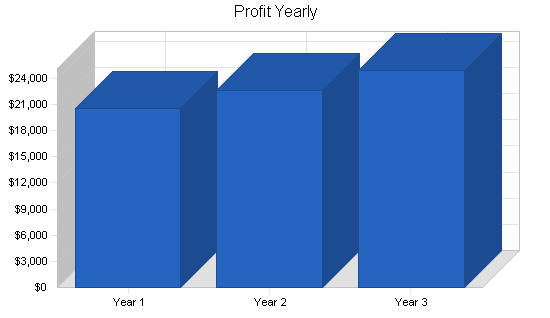 Computer software retailer business plan, financial plan chart image