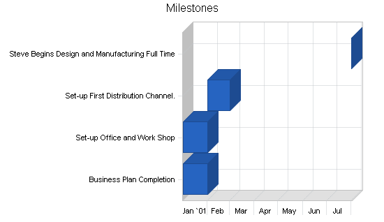 Custom jewelry business plan, strategy and implementation summary chart image