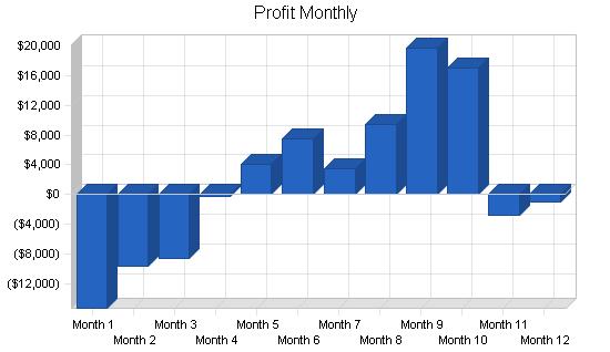 E-commerce internet business plan, financial plan chart image