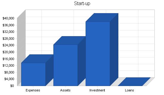 Ecommerce fabric store business plan, company summary chart image