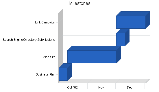 Sbp, educational website business plan, strategy and implementation summary chart image