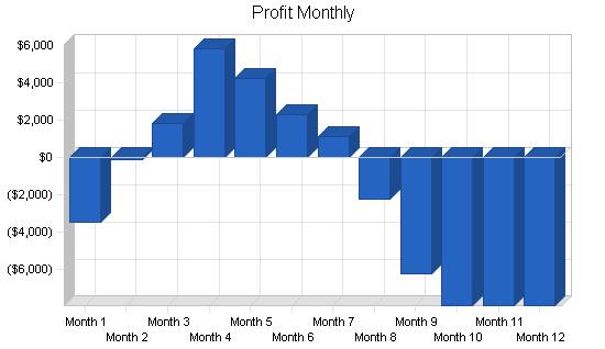 Garden nursery business plan, financial plan chart image