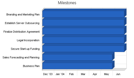Industry-specific software business plan, strategy and implementation summary chart image