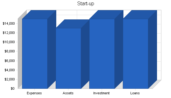 Insurance agency business plan, company summary chart image