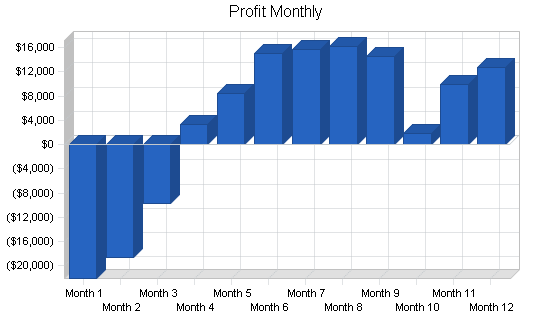 Inventory control software business plan, financial plan chart image