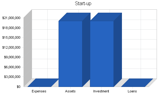 Investment company business plan, company summary chart image