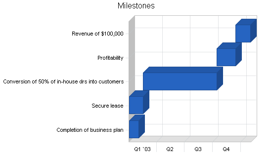 Laboratory business plan, strategy and implementation summary chart image