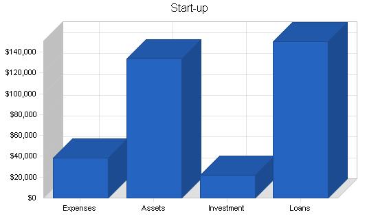 Lingerie shop business plan, company summary chart image