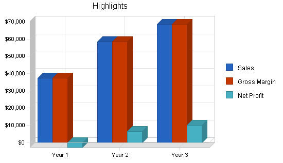 Magazine journalist business plan, executive summary chart image