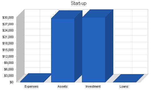 Medical transcription business plan, company summary chart image