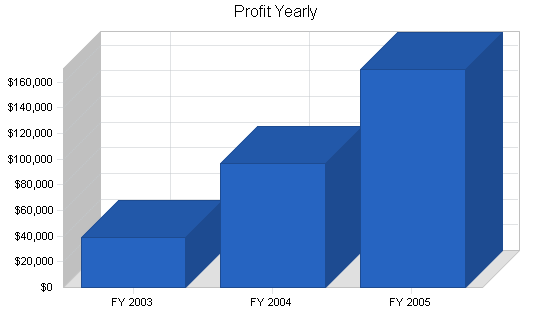 Microbrewery business plan, financial plan chart image