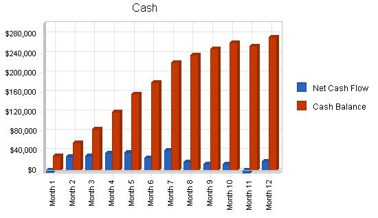 Mopeds rental business plan, financial plan chart image