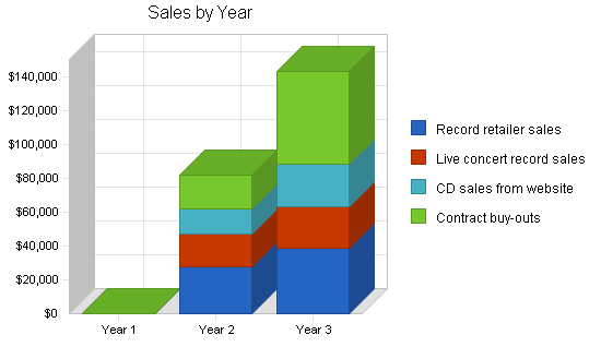 Music recording producer business plan, strategy and implementation summary chart image