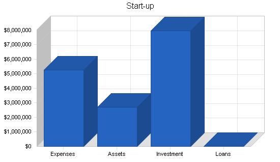 Nightclub resort complex business plan, company summary chart image