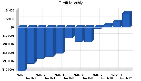 Public relations business plan, financial plan chart image
