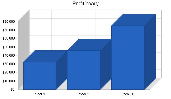 Real estate brokerage business plan, financial plan chart image