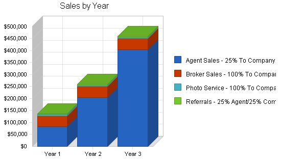 Real estate brokerage business plan, strategy and implementation summary chart image