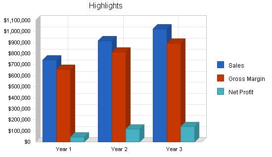 Resort hotel ski lodge business plan, executive summary chart image