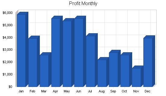 Salsa manufacturer business plan, financial plan chart image