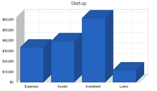 School fundraising business plan, organization summary chart image
