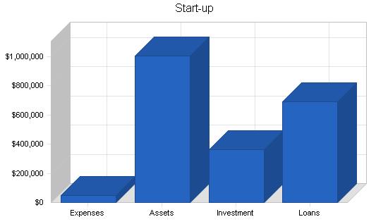 Self-storage business plan, company summary chart image