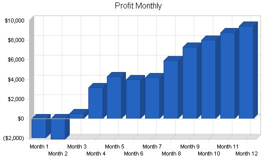 Seminar business plan, financial plan chart image