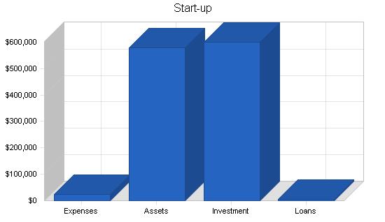 Spa health club business plan, company summary chart image
