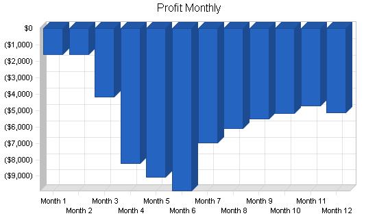 Tools rental business plan, financial plan chart image