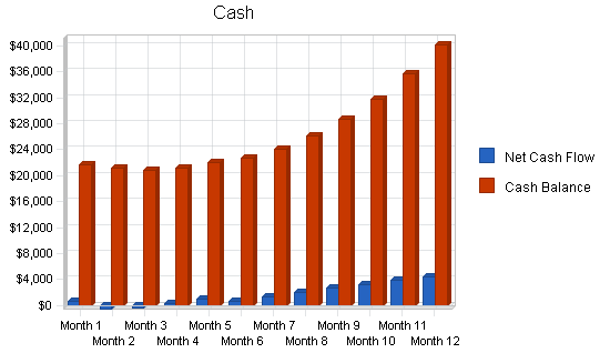Video documentation service business plan, financial plan chart image